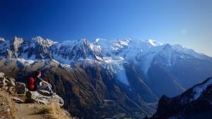 Au dessus de la vallée de Chamonix