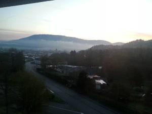 Remiremont sous la brume